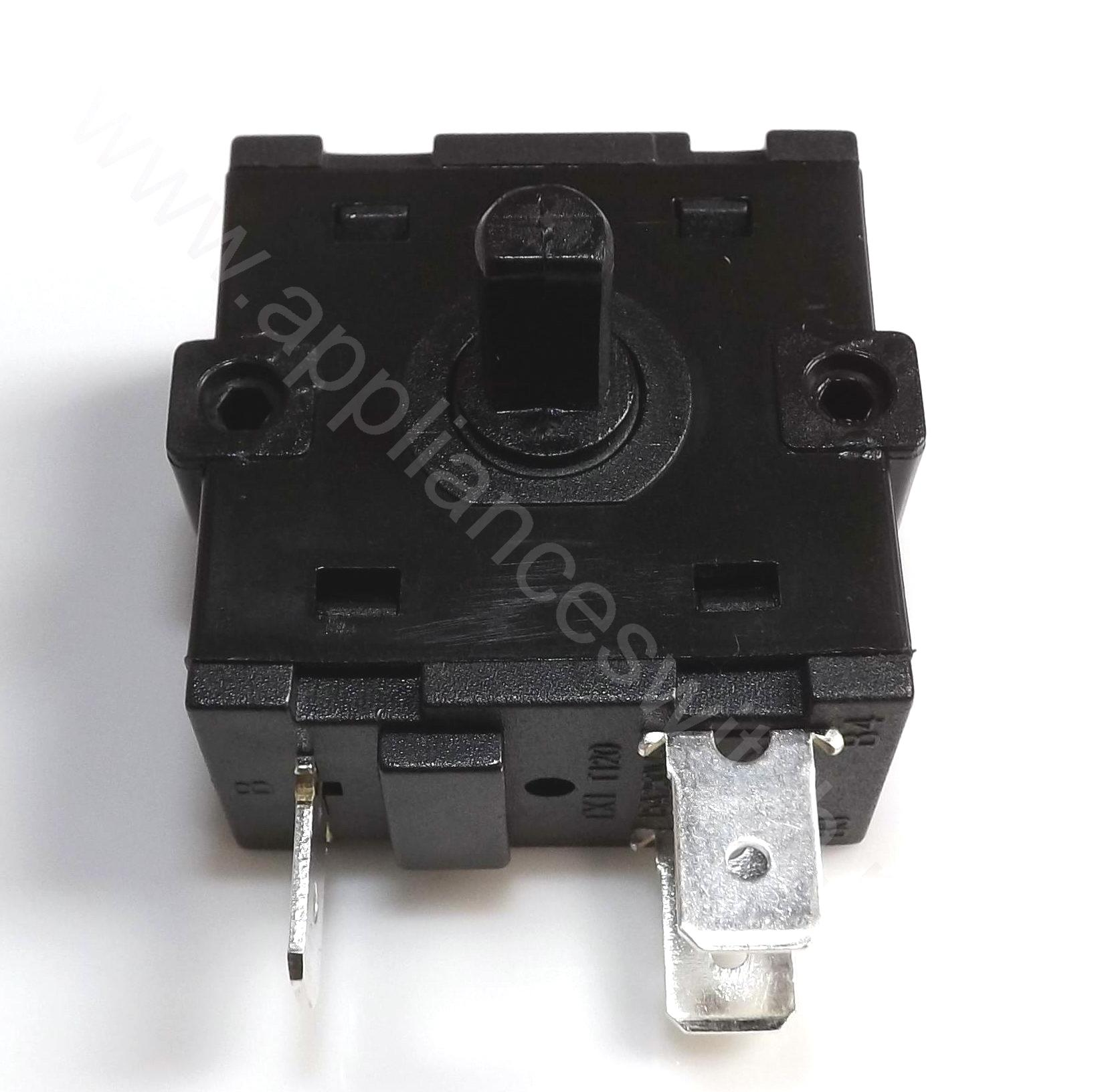 Single pole/double pole multiple throw Rotary switch for fan heater ...